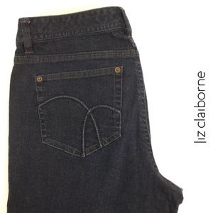 Liz Claiborne Womens Slim Straight Leg Jeans 12R